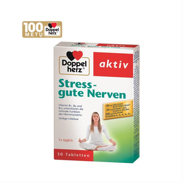 DOPPELHERZ AKTIV STRESS-GUTE NERVEN, 30 tablečių paveikslėlis