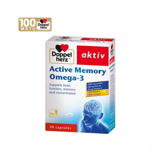 DOPPELHERZ AKTIV ACTIVE MEMORY OMEGA-3, 30 kapsulių paveikslėlis