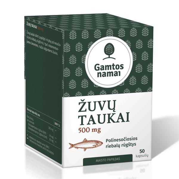 GAMTOS NAMAI ŽUVŲ TAUKAI, 500 mg, 50 kapsulių   paveikslėlis