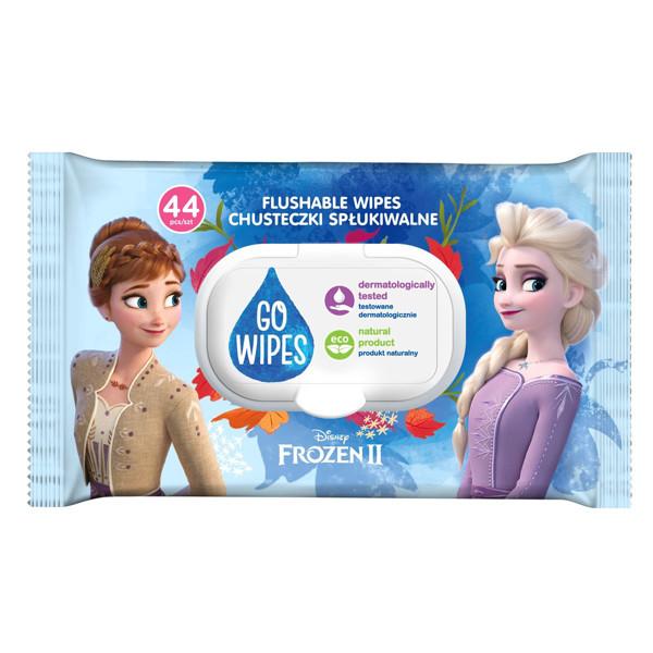 GO WIPES, drėgnas tualetinis popierius-drėgnos servetėlės vaikams FROZEN, 44 vnt. paveikslėlis