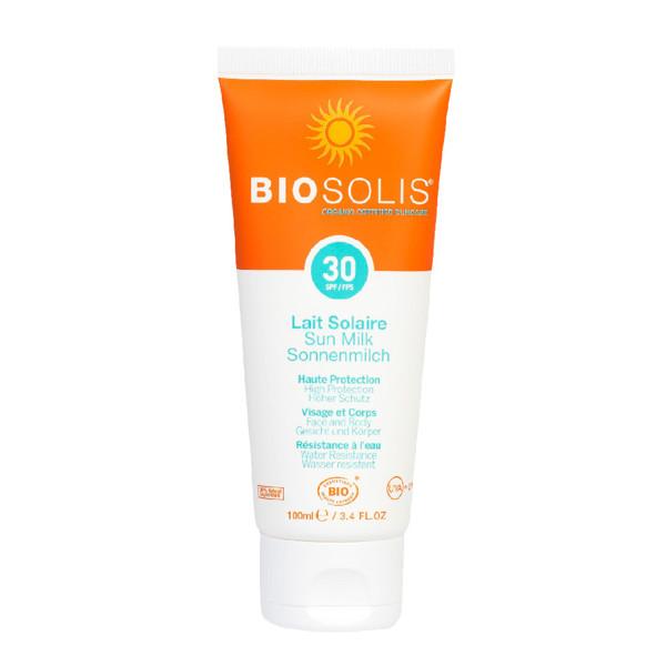 BIOSOLIS ekologiškas pienelis nuo saulės SPF30, 100 ml paveikslėlis