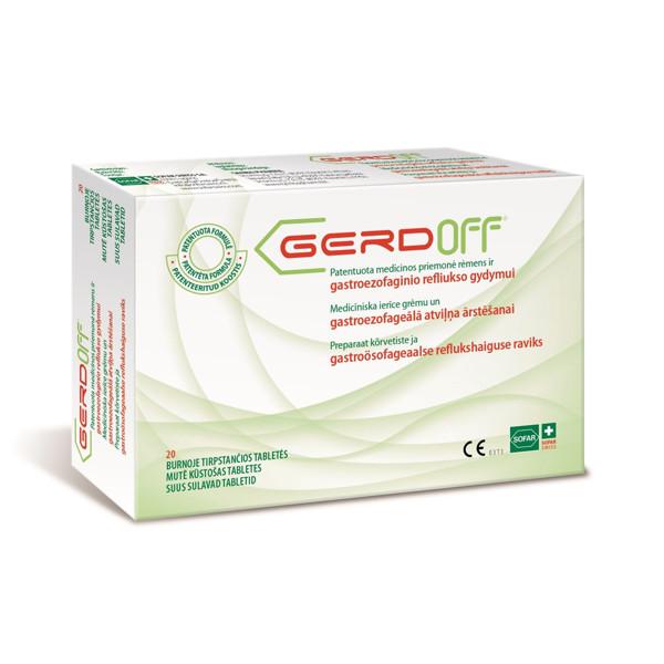 SOFAR GERDOFF, 20 burnoje tirpstančių tablečių paveikslėlis