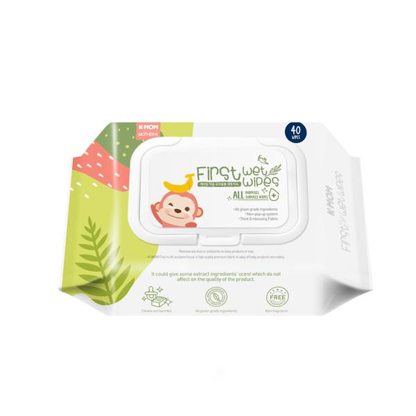 K-MOM daiktų valymo drėgnos servetėlės su etanoliu (40 vnt.) paveikslėlis
