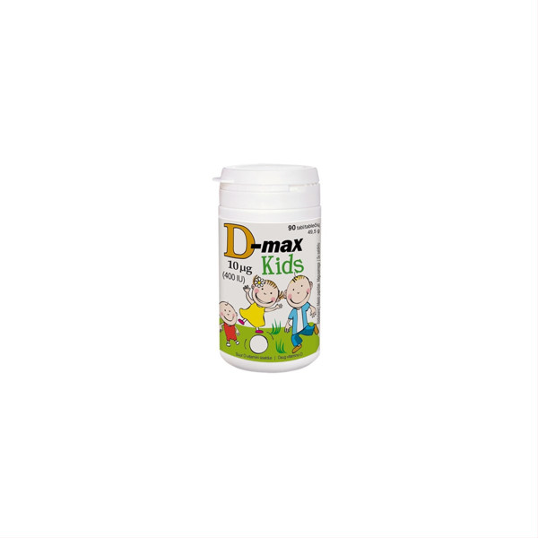 D-MAX, 10 mcg, 90 kramtomųjų tablečių paveikslėlis