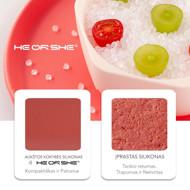 heorshe Silikoniniai vaikų maitinimo indai, rožiniai paveikslėlis