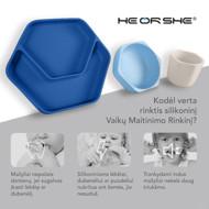 heorshe Silikoniniai vaikų maitinimo indai, mėlyni paveikslėlis