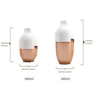 heorshe Ultra Wide Neck buteliukas, 240ml., baltas paveikslėlis