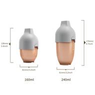 heorshe Ultra Wide Neck buteliukas, 240ml., pilkas paveikslėlis