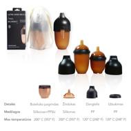 heorshe Ultra Wide Neck buteliukas, 160ml., juodas paveikslėlis