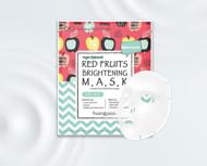 huangjisoo raudonųjų vaisių skaistinamoji lakštinė veido kaukė, rinkinys, 5 vnt. paveikslėlis