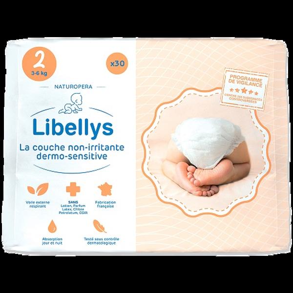 """Libellys Dermo-Sensitive"" sauskelnės S (3-6 kg) 30 Vnt. paveikslėlis"