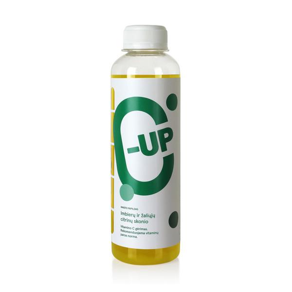 C-UP, vitamino C gėrimas, žaliųjų citrinų ir imbiero skonio, 250 ml paveikslėlis