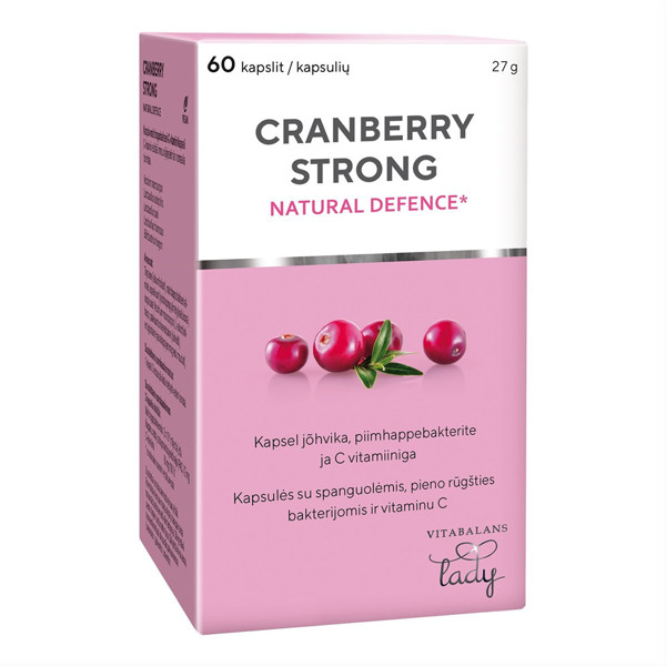 CRANBERRY STRONG, 60 tablečių paveikslėlis