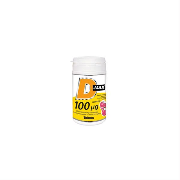 D-MAX, 100 mcg, 90 kramtomųjų tablečių paveikslėlis