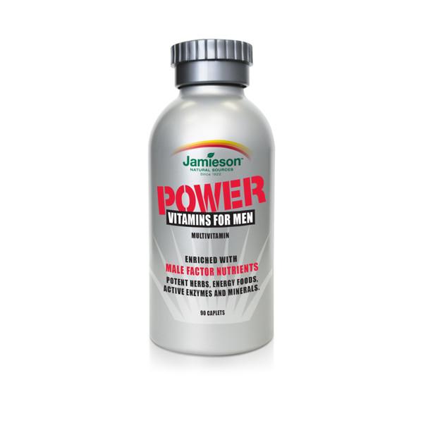 JAMIESON POWER VITAMINS FOR MEN, vyrams, 90 tablečių paveikslėlis
