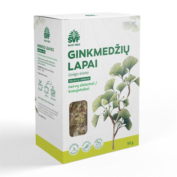 ACORUS GINKMEDŽIŲ LAPAI, žolelių arbata, 50 g paveikslėlis