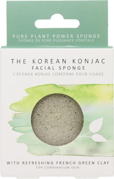 Konjac Sponge veido kempinėlė mišriai odai  su žaliuoju moliu, 1 vnt paveikslėlis