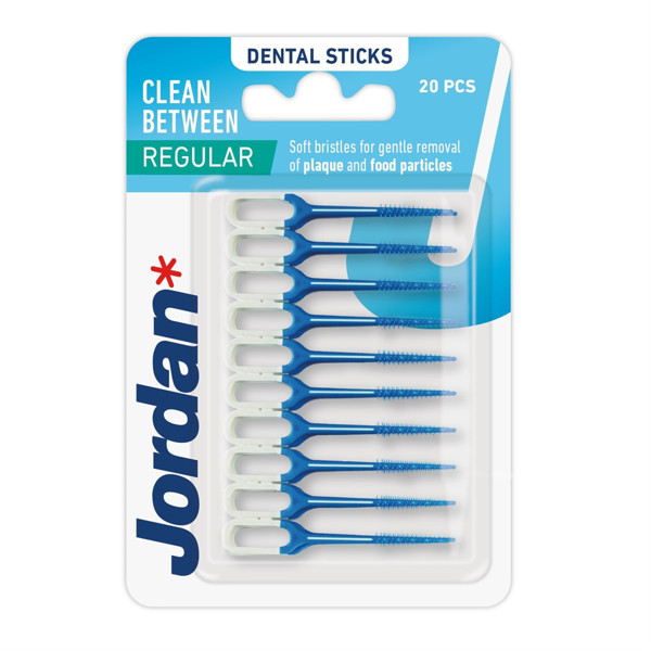 JORDAN CLEAN BETWEEN, tarpdančių šepetėliai, guminiai, 20 vnt. paveikslėlis