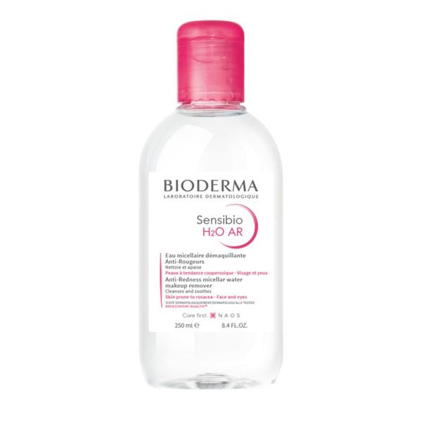 BIODERMA SENSIBIO AR H2O, micelinis valomasis vanduo jautriai, raustančiai odai, 250 ml paveikslėlis