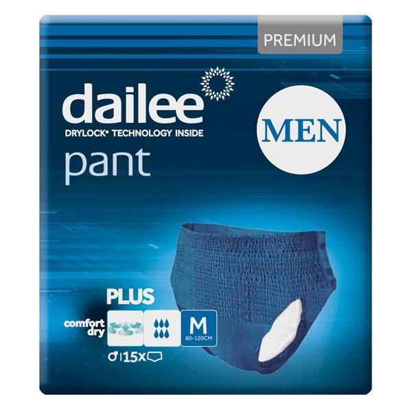 DAILEE PANT MEN PREMIUM PLUS, sauskelnės kelnaitės, M, 15 vnt. paveikslėlis