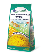 """FLEUR ALPINE  ekologiški makaronai """"Chifferini"""" be gliuteno, iš kukurūzų ir ryžių miltų, 250 g paveikslėlis"""