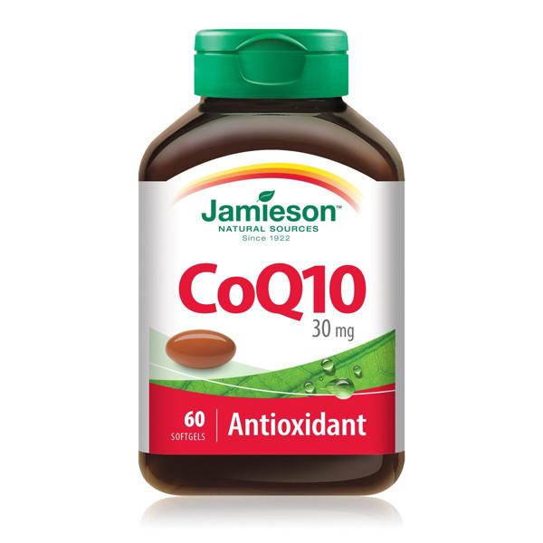 JAMIESON CO Q10 KOFERMENTAS, 30 mg, 60 minkštų kapsulių paveikslėlis