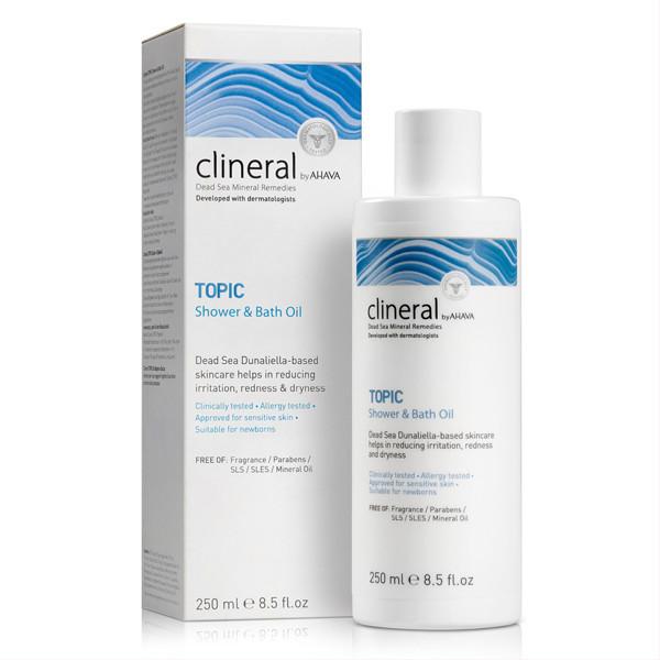 CLINERAL BY AHAVA TOPIC, dušo ir vonios aliejus, 250 ml paveikslėlis