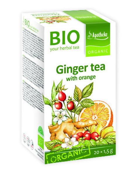 APOTHEKE BIOImbierinė arbata su apelsinais, 1,5g N20 paveikslėlis