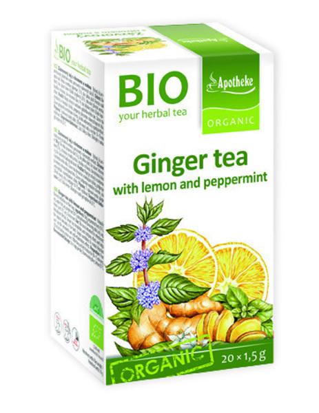 APOTHEKE BIOImbierinė arbata su mėtomis ir citrinų žievele, 1,5g N20 paveikslėlis