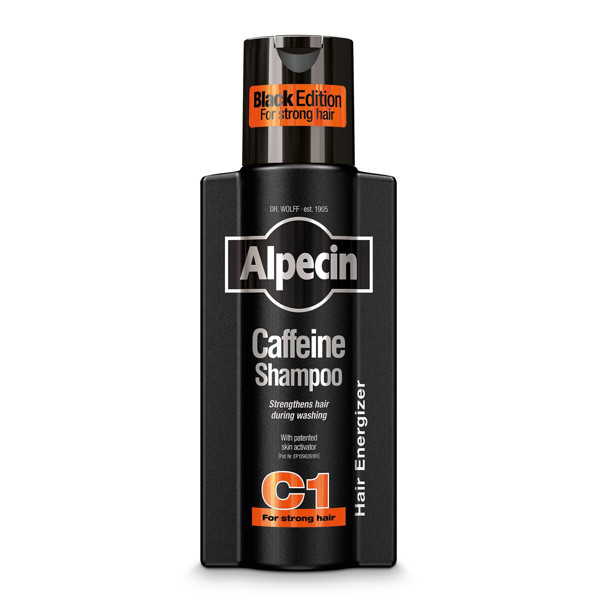 ALPECIN BLACK EDITION, šampūnas su kofeinu nuo plaukų slinkimo, 250 ml paveikslėlis