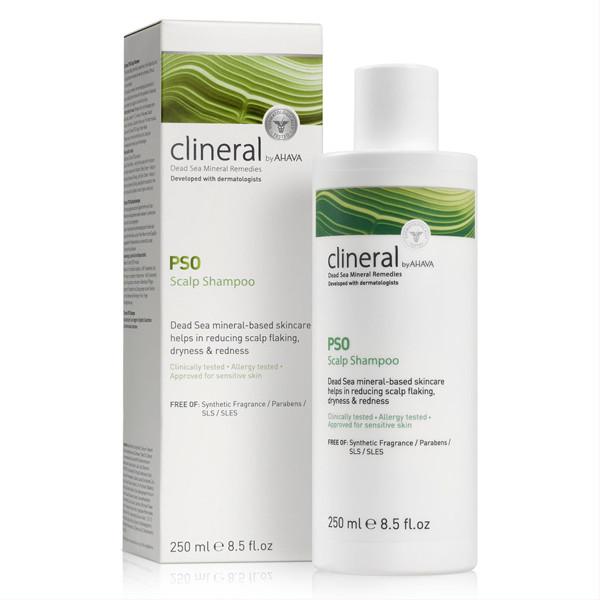 CLINERAL BY AHAVA PSO, galvos odos šampūnas, 150 ml paveikslėlis
