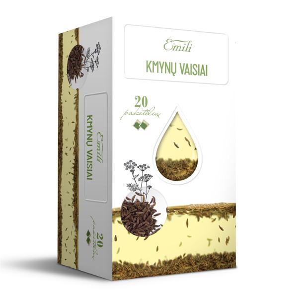 EMILI KMYNŲ VAISIAI, žolelių arbata, 1,5 g, 20 vnt. paveikslėlis