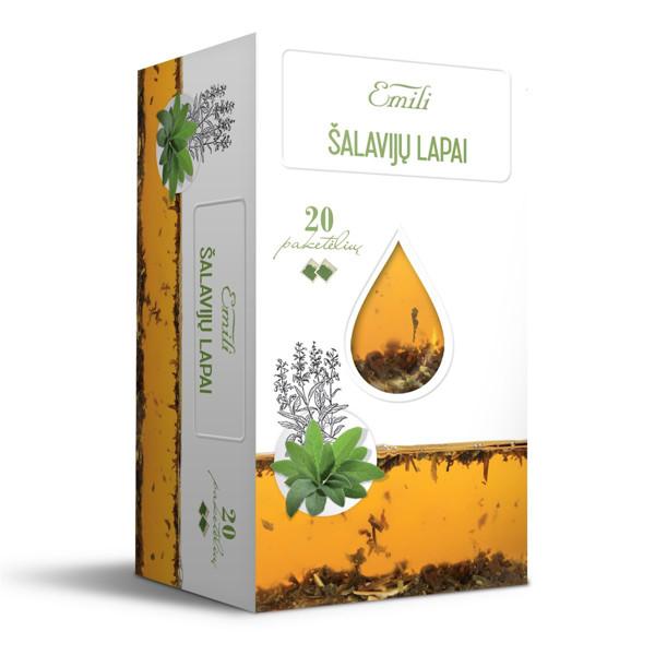 EMILI ŠALAVIJŲ LAPAI, žolelių arbata, 1,5 g, 20 vnt. paveikslėlis