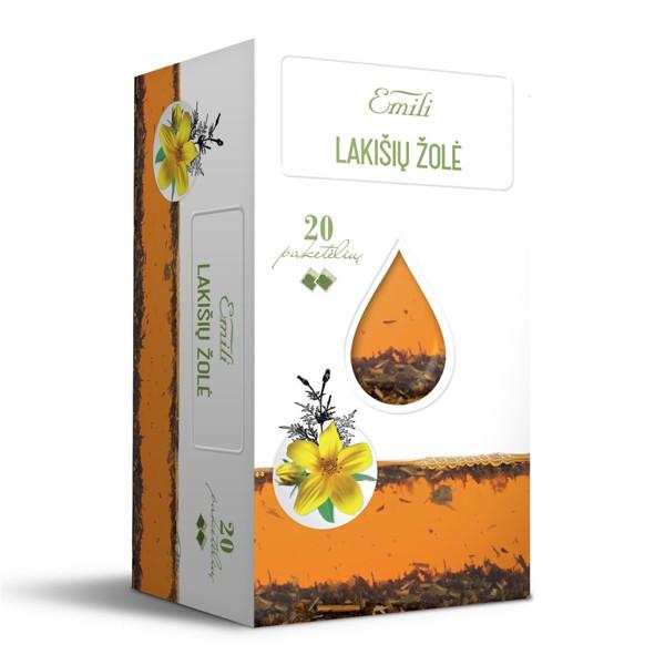 EMILI LAKIŠIŲ ŽOLĖ, žolelių arbata, 1,5 g, 20 vnt. paveikslėlis