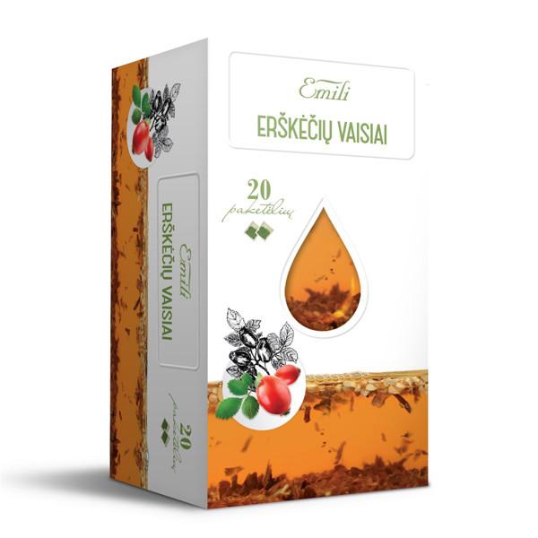 EMILI ERŠKĖČIŲ VAISIAI, žolelių arbata, 1,5 g, 20 vnt. paveikslėlis