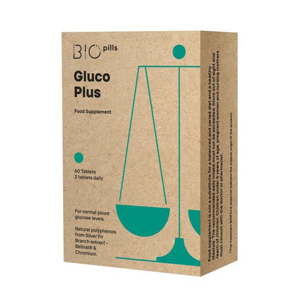 BIOPILLS GLUCO PLUS, 60 tablečių paveikslėlis
