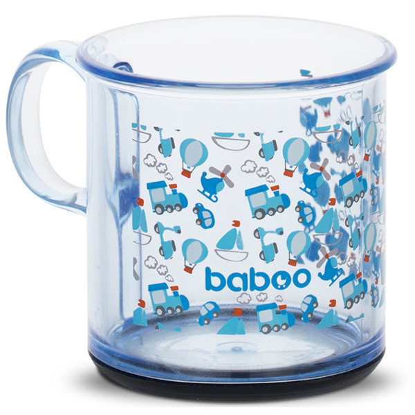 Baboo puodelis neslystančiu dugnu, 170ml, 12+ mėn, Transport paveikslėlis