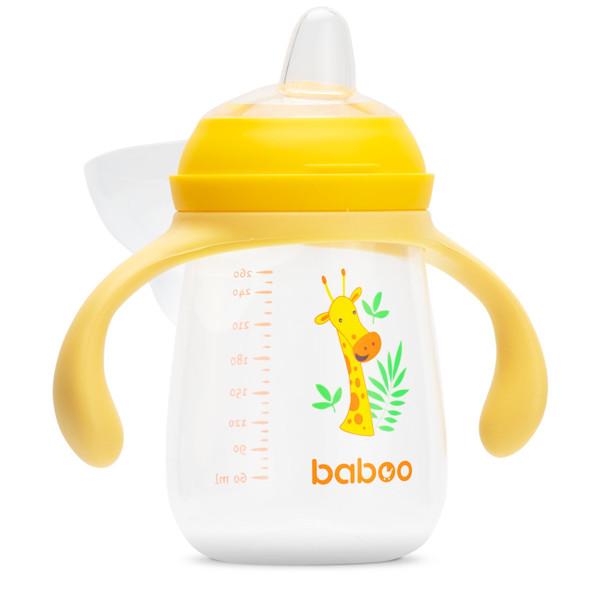 Baboo gertuvė su silikoniniu snapeliu, 260ml, 6+ mėn, Safari paveikslėlis