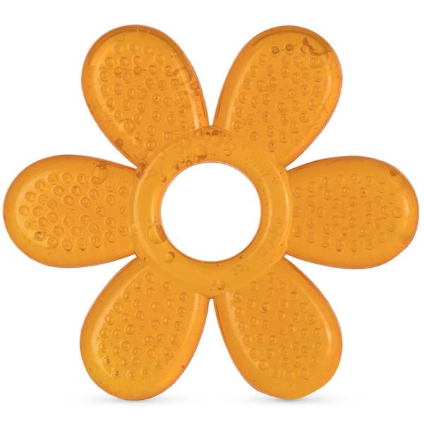 Baboo kramtukas su vėsinančiu vandens užpildu, 4+ mėn, Gėlė, oranžinė paveikslėlis