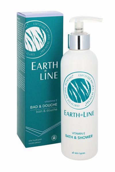 EARTH LINE Vitamin E Vonios ir dušo žele visų tipų odai, 200ml paveikslėlis